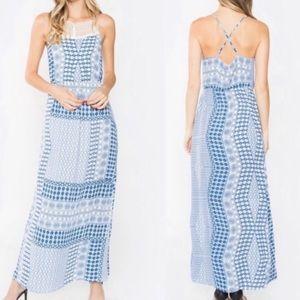 COPY - Women's sleeveless boho floral MAXI DRESS